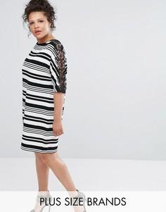 Платье с кружевными вставками Elvi - Мульти