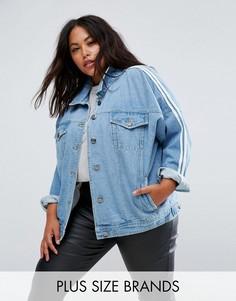 Джинсовая куртка с полосками в спортивном стиле Daisy Street Plus - Синий