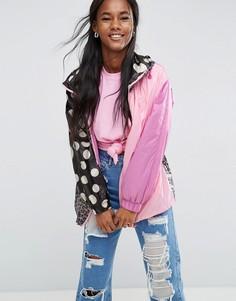 Куртка в горошек с контрастным леопардовым принтом ASOS - Мульти