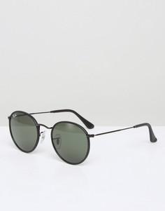 Круглые солнцезащитные очки Ray-Ban 0RB3475Q - Черный