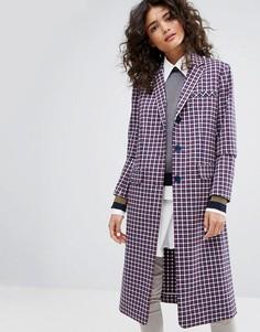 Строгое пальто в мелкую клетку Sonia By Sonia Rykiel - Мульти