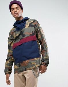Складывающаяся куртка камуфляжного/синего/винного цвета Herschel Voyage - Зеленый