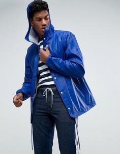 Синяя непромокаемая спортивная куртка с капюшоном Herschel Forecast - Синий