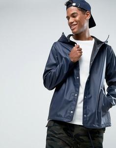 Непромокаемая спортивная куртка с капюшоном эксклюзивно для Herschel Forecast - Темно-синий