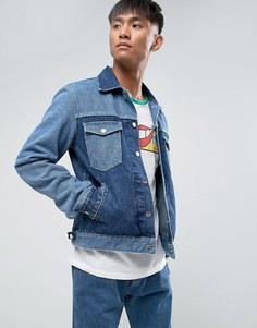 Джинсовая куртка в стиле ретро Wrangler Peter Max - Синий