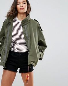Свободная куртка в стиле милитари Maison Scotch - Зеленый