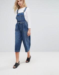Джинсовый комбинезон с широкими штанинами Pepe Jeans Colette - Синий