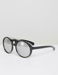 Черные круглые солнцезащитные очки 7X - Черный