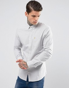 Зауженная рубашка в клетку Farah - Белый