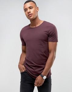 Длинная футболка с круглым вырезом Jack & Jones Premium - Красный