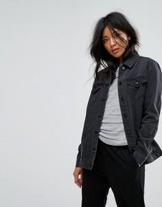 Джинсовая oversize-куртка JDY - Серый