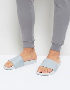 Серые шлепанцы adidas Originals Adilette BY9906 - Серебряный