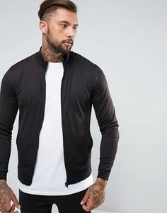 Спортивная трикотажная куртка ASOS - Черный