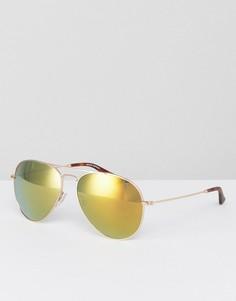 Солнцезащитные очки-авиаторы в золотистой оправе Levis - Золотой Levis®