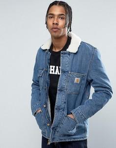 Джинсовая куртка с воротником из искусственного меха Carhartt WIP - Синий