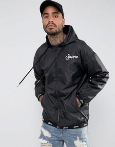 Спортивная черная куртка с капюшоном Sixth June - Черный