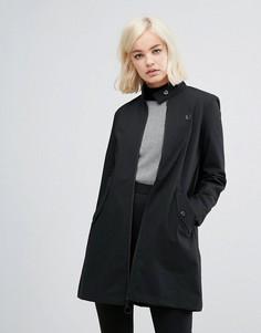 Пальто в стиле ретро с высоким воротником Fred Perry - Черный