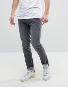 Серые узкие джинсы Solid - Синий