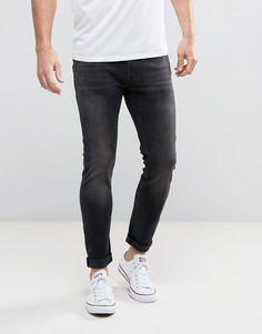 Черные выбеленные джинсы скинни Jack & Jones Intelligence - Черный