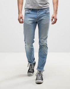 Эластичные узкие выбеленные джинсы Lee Powell - Синий