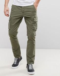Узкие брюки карго Only & Sons - Зеленый