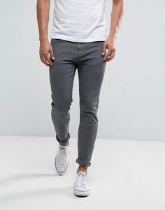Серые облегающие джинсы LDN DNM - Рыжий
