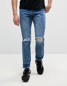 Узкие джинсы с дырками на коленях и вставками Always Rare Clarence - Синий
