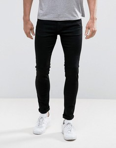 Черные выбеленные джинсы скинни Weekday - Черный