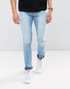 Голубые джинсы с напылением ASOS - Синий
