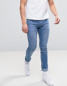 Узкие эластичные джинсы выбеленного синего цвета Religion - Синий