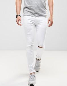 Супероблегающие джинсы с рваными коленями Ringspun - Белый