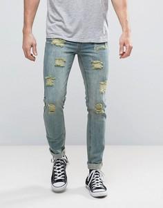 Состаренные джинсы скинни Dead Vintage - Синий