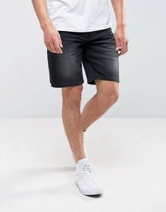 Рваные джинсовые шорты Troy - Черный