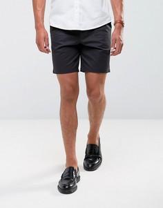 Строгие узкие шорты чиносы Burton Menswear - Черный