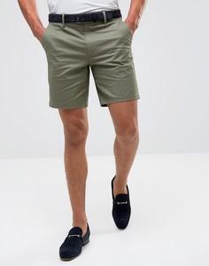 Строгие узкие шорты чиносы Burton Menswear - Зеленый