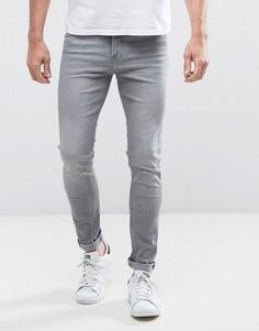 Серые супероблегающие джинсы Lee Malone - Серый
