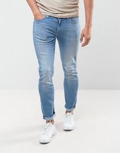 Синие супероблегающие джинсы в стиле 70-х Lee Malone - Синий