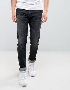 Черные выбеленные эластичные джинсы узкого кроя Replay Thyber - Черный