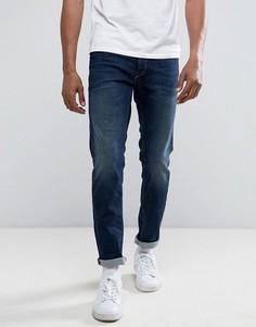 Темные суженные книзу джинсы слим Replay - Синий