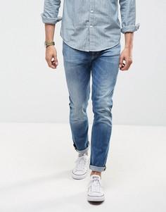 Суженные книзу светлые джинсы Nudie Jeans Co Lean Dean - Синий