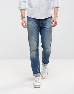 Светлые прямые джинсы Nudie Jeans Co Dude Dan - Синий