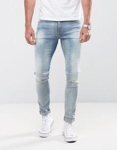 Оранжевые джинсы скинни Nudie Jeans Co Lin - Синий