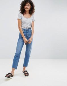 Джинсы слим в винтажном стиле с завышенной талией ASOS FARLEIGH - Синий