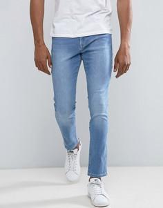 Джинсы скинни в винтажном стиле Brooklyn Supply Co - Синий