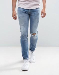 Светлые джинсы скинни Diesel Sleenker 084GL - Синий