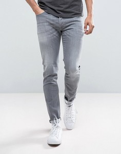Выбеленные серые джинсы скинни Diesel Sleenker 0683M - Серый