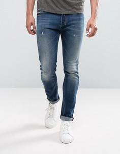Светлые джинсы скинни Diesel Tepphar 084GG - Синий