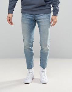 Узкие джинсы с необработанными краями Jack & Jones Intelligence - Синий
