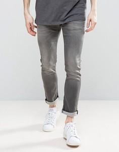 Суперэластичные зауженные джинсы Jack & Jones Intelligence - Серый