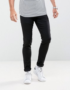 Черные эластичные джинсы зауженного кроя Solid - Черный